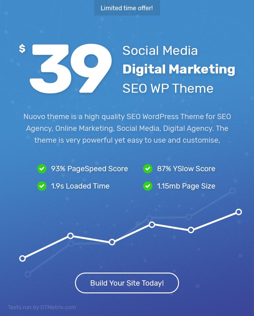 Nuovo - Social Media, Digital Marketing Agency, SEO WordPress Theme - 4