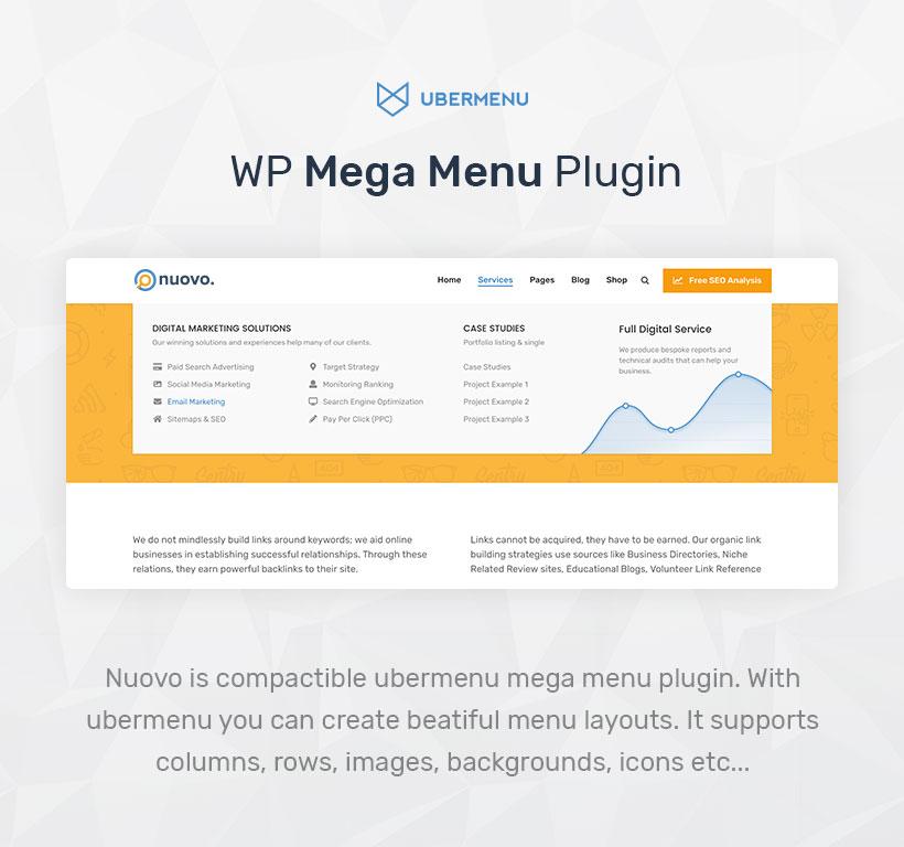 Nuovo - Social Media, Digital Marketing Agency, SEO WordPress Theme - 11
